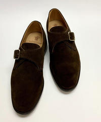 19.15 Rejected Tricker's /  Brown Suede / Monk Shoes / Leather Sole / Size 8