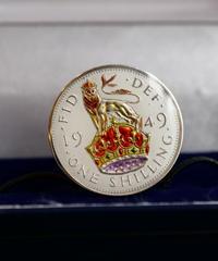 BENSON & CLEGG / CUFFLINKS / UK English Shilling /  Silver