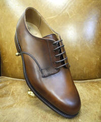 18.99 Rejected Tricker's / Brown / Plain Toe Derby Shoes / Leather Sole / Size 6 half