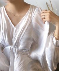 SHINY-CLOTH FLARE TUNIC