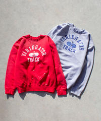TRACK DAMEGED SWEATSHIRT【UNISEX】
