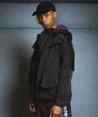 LAYER BLOUSON / black