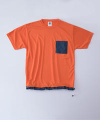 POCKET TEE / orange