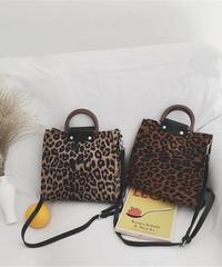 Leopard Square Shoulder Bag/レオパードスクエアショルダーバッグ