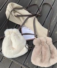 Drawstring Fur Bag/ドローストリングファーバッグ