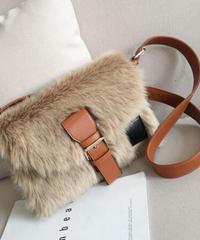 Square Fur Shoulder Bag/スクエアファーショルダーバッグ