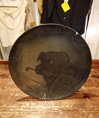 In 1880.  A picture drawn on a plate