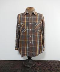 【 1970s~ BIG MAC 】 Heavy cotton brown check shirt.