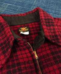 【 ~1940s  BUCK SKEIN 】Half zip wool shirt.