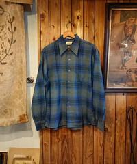 1970s  Ombre check  rayon shirt.