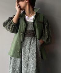 re.make vintage military lace jacket