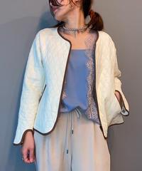 quilting jacket(ivory.black)