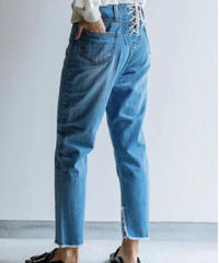 kittle lace-up denim