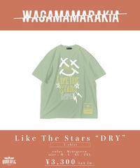 """[ 我儘ラキア ]  Like The Stars """"DRY"""" T-shirt -Mintgreen- [6月上旬発送予定]"""