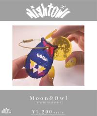 [NightOwl] Moon&Owl Acrylic keyholder  [ワンマンまでにお届け予定]