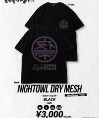 [ NightOwl ][受注販売]<7月上旬発送>ドライメッシュTシャツ