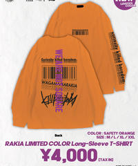 [我儘ラキア][完全受注生産品!] KillboredomTOUR 2019 LONG SLEEVE T-SHIRT  ORANGE