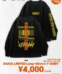 [我儘ラキア][完全受注生産品!] KillboredomTOUR 2019 LONG SLEEVE T-SHIRT  BLACK