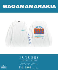 [ 我儘ラキア  ] FUTURES Longsleeve T-shirt  [ White ]