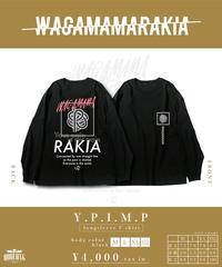 [我儘ラキア][完全受注生産品!] Y.P.I.M.P long sleeve T-shirt<black>[10月上旬お届け予定]