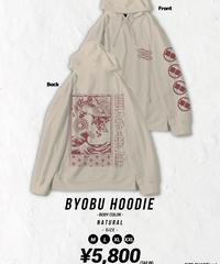 [我儘ラキア][受注販売] Byobu Hoodie -Natural-<9月上旬発送予定>