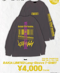 [我儘ラキア][完全受注生産品!] KillboredomTOUR 2019 LONG SLEEVE T-SHIRT  CHARCOAL
