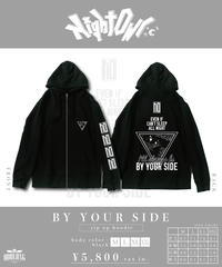 [Night Owl][完全受注生産品!] BY YOUR SIDE zip up hoodie<black>[10月上旬お届け予定]