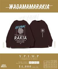 [我儘ラキア][完全受注生産品!] Y.P.I.M.P long sleeve T-shirt<dark chocolate>[10月上旬お届け予定]