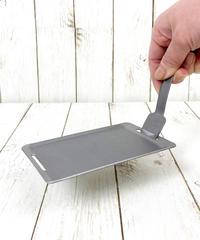 339567 バーベキュー用ミニ鉄板(リフター付)