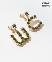 WCビジューイヤリング【WCJ-RU-010GR】※10月中旬発売予定