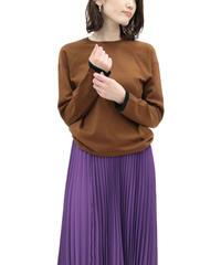 LOANA 80-20109 袖配色ラインクルーネックニットプルオーバー