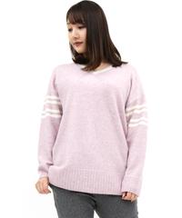 〔hbis〕30-20132 P2-8 ブークレVネックセーター