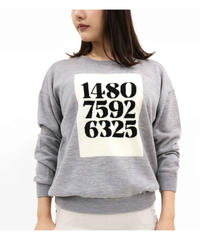 〔hbis〕30-20134 P2-2 Numberインターシャニットセーター