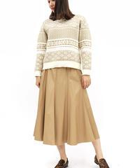 《LOANA》80-40101 フェイクレザーフレアスカート