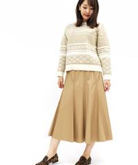 《LOANA》80-40101 P2-7 /フェイクレザーフレアスカート