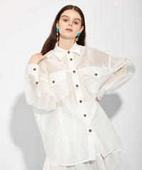 GHOSPELL / DEPARTMENT SHEER OVERSIZED SHIRT