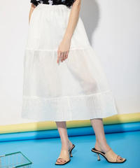 GHOSPELL / DEPARTMENT SHEER MIDI SKIRT