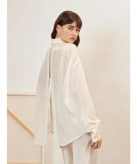 GHOSPELL / Notion Open Back Shirt