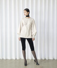 FETICO /  Floral embroidered sweatshirt ( OFF WHITE )