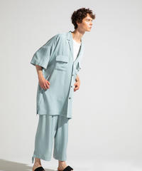 Robes & Confections  /  Washable Rayon Soft Twill Tailored Baggy Shirt