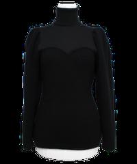 FETICO /  Puff sleeve knit top ( BLACK )