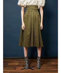 GHOSPELL / Bravo Shirring Midi Skirt