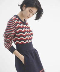 COOHEM / RETRO WAVE KNIT PULLOVER
