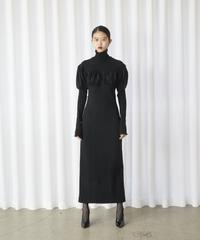FETICO /  Combined knit dress ( BLACK )