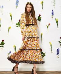 sister jane / Wild Floraラッフルミディドレス