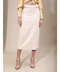 GHOSPELL / Natural Outline Cut Out Midi Skirt