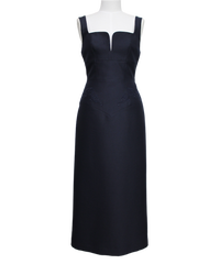 FETICO /  Floral embroidered midi dress ( NAVY )