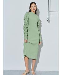 GHOSPELL / Serenity Ruched Sleeve Midi Dress