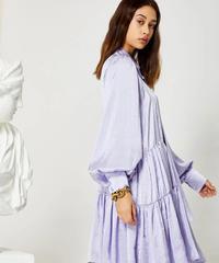 GHOSPELL / LAVENDER GLAZE TIERED DRESS