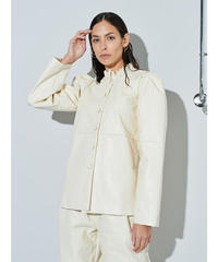 GHOSPELL / Drift Faux Leather Overshirt